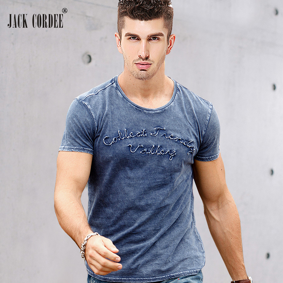 388b97cd5 JACK-CORDEE-Fashion-T-shirt-Men-Letter-Embroidered-